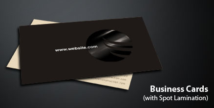 Business Cards With Spot Lamination Trimurti Print